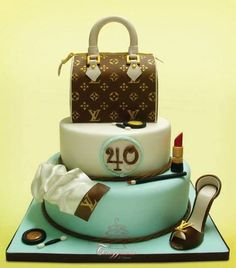 Louis Vuitton Love Louis Vuitton Cake, Louis Vuitton Online, Louis Vuitton Wallet, Louis Vuitton Handbags, Foto Pastel, 40th Birthday Cakes, 50th Cake, 40 Birthday, Birthday Favors