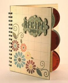 JustRite Stampers: Day 5 with Becca Feeken - Recipe Journal Recipe Journal, Food Journal, Journal Ideas, Mini Scrapbook Albums, Mini Albums, Becca Feeken Cards, Craft Sites, Paper Crafts, Diy Crafts