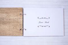 Wedding Guest Book Rustic Wedding Guestbook by HappyWeddingArt