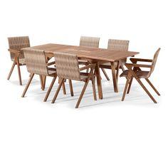 Merxx Gartenmobelset Trentino 9tlg 4 Sessel Tisch Stapelbar