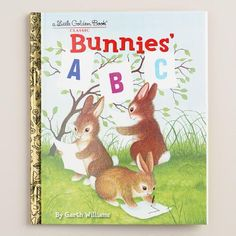 PETER COTTONTAIL~One of my favorite discoveries at WorldMarket.com: Bunnies' ABC, a Little Golden Book