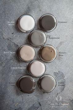 Pure original interior paint - the most beautiful colour palette.
