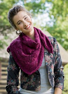 Springtime Bandit by Kate Gagnon Osborn - #free shawl pattern using Terra #knitting #shawl