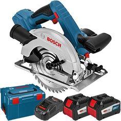 *CLICK TO ENLARGE* Bosch GKS 18V-57 G 18V 165mm Circular Saw (2x 6.3Ah EneRacer)