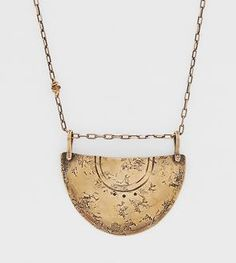 Shield Bearer Hammered & Embossed Arc Necklace