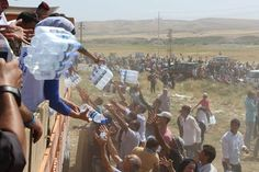 Aid workers are doing everything they can in Syria. For example, along with partners, UNHCR is putting up shelters for shade and distributing water and food.  See this recent UNHCR video from the border with Iraq: http://rfg.ee/o5Zrt