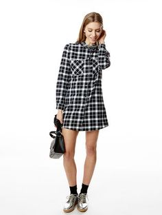 Chemise à manches longues Highlight #asapparis #asap #paris #street #fashion #trend #shirt #longshirt #blackandwhite #black #white #grid #checkedshirt #checked