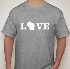 Wisconsin Love t shirt by TheLuckyMonkeyShop on Etsyhttps://www.etsy.com/listing/246862124/wisconsin-love-t-shirt?ref=listing-shop-header-3