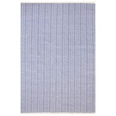 Dash & Albert Fair Isle French Blue and Ivory Cotton Woven Rug