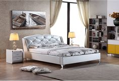 Timo Modern Leather Bed Frame Leather Bed Frame, Thought For Today, Modern Bedroom Furniture, Thoughts, Decorating, Home Decor, Yurts, Decor, Decoration
