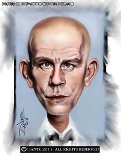 John Malkovich Caricature