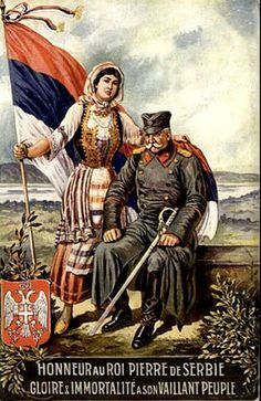 French WWI poster honoring the Serbs