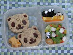 Bento for Kidlet: World Animal Day Bento Hop : Panda #EasyLunchBoxes