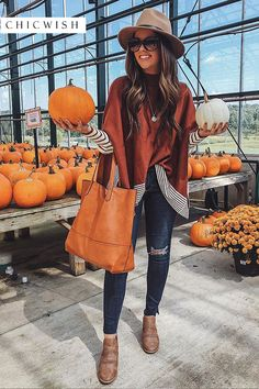 Lie in Caramel Fields Striped Oversize Knit Cape Sweater - Retro, Indie and Unique Fashion Cute Fall Outfits, Fall Winter Outfits, Autumn Winter Fashion, Trendy Outfits, Cool Outfits, Fashion Outfits, Fashion Trends, Casual Winter, Winter Wear