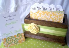 Wedding Guestbook!!! This is an awsome idea,then you have everyones addresses for Thank You's!