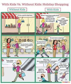 Doing Daily Things With Kids Vs. Without Kids Relatable Comics) - We share because we care. A resource for sharing the latest memes, jokes and real stuff about parenting, relationships, food, and recipes