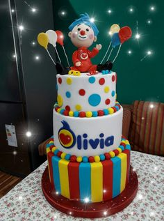 Torta de PlimPlim para mi hija en si cumple numero 1. Disney Cakes, Cool Birthday Cakes, Ideas Para Fiestas, Baby Shower, Party, Desserts, Fun, Gifts, Birthday Cakes