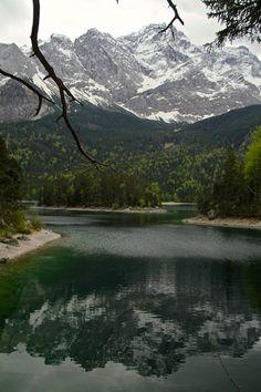 Eibsee, Garmish Partenkirchen, Bavaria#lake #Bavaria #Eibsee For more pictures: http://www.zigzagonearth.com/munich-escape-bavaria-eibsee/