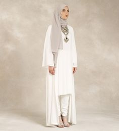 White Georgette Kimono - £37.99 : Inayah, Islamic Clothing & Fashion, Abayas, Jilbabs, Hijabs, Jalabiyas & Hijab Pins