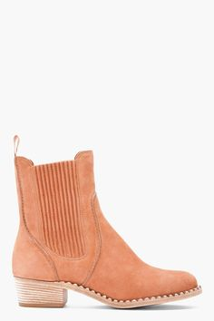 MARC BY MARC JACOBS //  BROWN NUBUCK CHELSEA ANKLE BOOTS