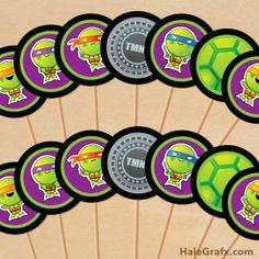 Kit de las Tortugas Ninja para Imprimir Gratis.