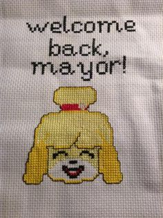 Took about a week n half, but I finally finished it. For an Animal Crossing Reddit Rematch Exchange 2015. What a mouth full. Hah. I customally made Isabelle on Sai Tools, She turned out pretty good, unfortunately I couldn't get her whole outfit stitched since I cut the fabric short. Ah well.