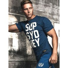 Supawear SUP SYD NEY T-Shirt Navy Marle (T5104) Gay, Fitness, Workout, Tank Tops, Stylish, Casual, T Shirt, Fashion, Trousers