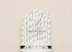 Silver Straws/Wedding Decor/Birthday by PrettyPartySprinkles
