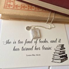personalised book lover locket by literary emporium | notonthehighstreet.com