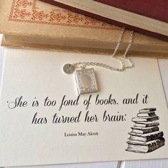 personalised book lover locket by literary emporium   notonthehighstreet.com