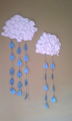 A DIY, Rainy Clouds, project for kids from Stacy Vaughn ... I think kids would…
