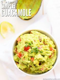Easy Lime Crema   Perfect for any type of tacos and ready in 5 minutes Healthy Pregnancy Snacks, Healthy Snacks, Pregnancy Snack Ideas, Healthy Recipes, Crockpot Recipes, Vegetarian Recipes, Authentic Guacamole Recipe, Guacamole Recipe Easy Sour Cream, Guacamole Recipe Without Lime