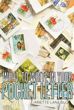 What to write in your Pocket Letter...