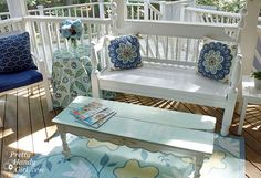 Inspiration File: How To Refinish A Bench By Pretty Handy Girl