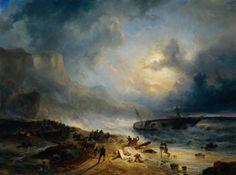 Shipwreck off a Rocky Coast, by Nuijen