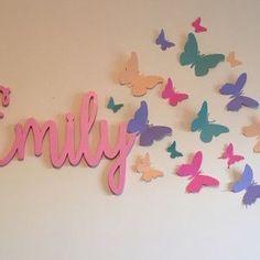 Butterfly Bedroom, Butterfly Wall Decor, Butterfly Design, Butterfly Canvas, Wall Painting Decor, 3d Wall Art, Rainbow Butterfly, Butterfly Party, Paper Butterflies