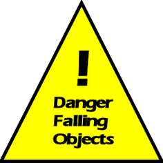 A free Falling Objects safety meeting topic for use in your safety program! #safetymeetingtopics #toolboxtalks #safety #danger #fallingobjects