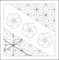 Sashiko Pattern 1082 - International Fabric Collection of quilt and fashion fabric.