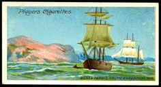 """Player's Cigarettes """"Polar Exploration"""" (A series of 25 cards issued in 1914) #7 Ross & Parry's Arctic Expedition, 1818"""