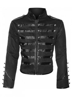 Gothic shop: Banned military drummer jacket (black)