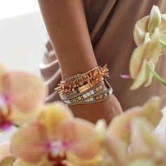 Stunning rose gold #SDArmParty // #bracelets #stelladotstyle