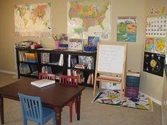 another great homeschool room