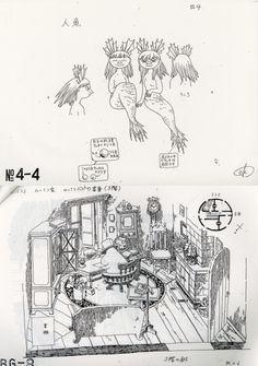 Moomin sketches- with mermaids! <3