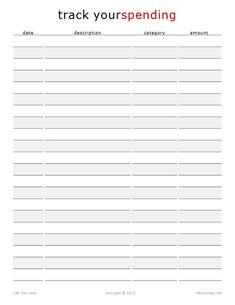 """Track Your Spending Worksheet"" (free printable)  [LifeYourWay.net]"
