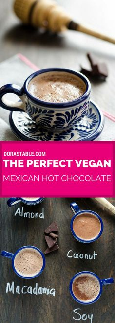 This creamy, foamy, rich, and delicious vegan Mexican hot chocolate has a hint of cinnamon and just the right amount of sweetness.