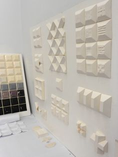 3D #ceramic #tiles by Agnieszka Robak 2012 (work in progress)
