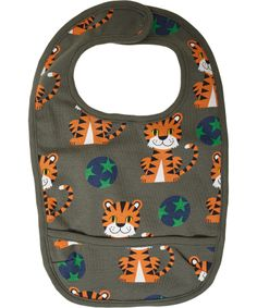 Ej Sikke Lej super cute tiger organic cotton bib @ emilea