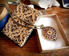 Antiqued Bronze Aromatherapy Necklace  Scent by dreamsofancientsun