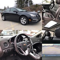 2015 'Black' Chevrolet Cruze LT.  BLUETOOTH. LEATHER. SUNROOF. HTD SEATS. Stock 18015A. Click pic for more info.