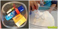Tous les enfants aiment les expériences sensorielles. Mais quand je leur ai parlé de fabriquer de la neige, ils étaient emballés! (hihi! Mauvais jeu de mots. Je n'ai pas pu m'empêcher :)) Matériel 1 bac de plastique 1 boîte de soda à pâte 1 canne de crème à raser Des brillants Étapes Mélanger les ingrédients …